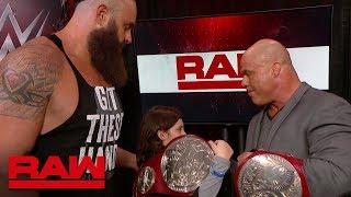 Braun Strowman & Nicholas relinquish the Raw Tag Team Titles: Raw, April 9, 2018