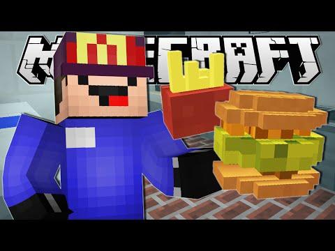 Minecraft | WORKING AT MCDONALDS!! | Order Up Custom Map