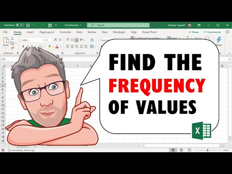 Find the Frequency of Values in Excel