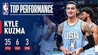 Kyle Kuzma Wins Mountain Dew Ice Rising Stars Game MVP | 2019 NBA All-Star
