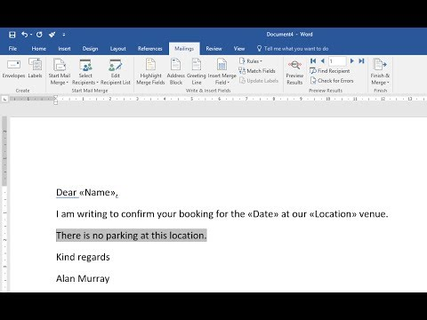 Word Mail Merge: If Then Else Rule for Conditional Paragraphs