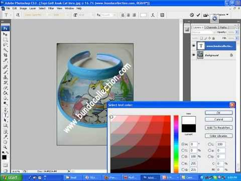 Cara Mengecilkan Foto dan Membuat Watermark Menggunakan Photoshop CS3