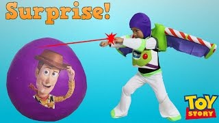 Disney Toy Story Super Giant Surprise Egg Toys Unboxing Buzz Lightyear Woody Jessie Ckn Toys