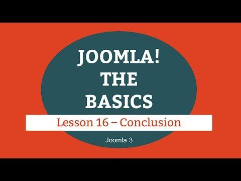 Joomla 3 Tutorial - Lesson 16 - Conclusion