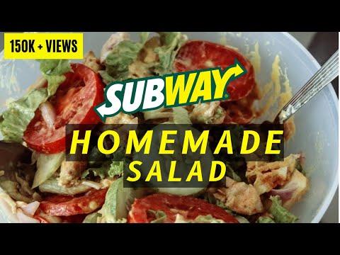 Homemade SUBWAY Salad | Cost Effective