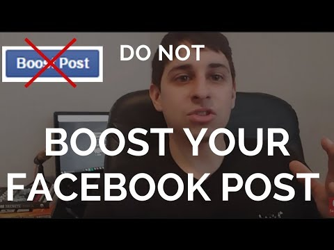 DO NOT boost your Facebook post- Do this instead...