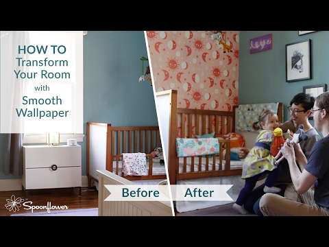 How to Install Spoonflower Smooth Wallpaper | Transform Your Room with Spoonflower