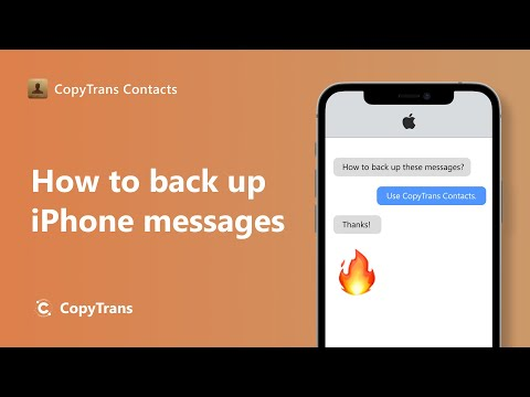 How to back up iPhone messages