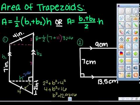 Area of triangles, trapezoids, and kites