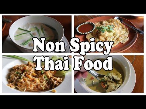 Eating Thai Food: Some Non Spicy Options. The Orchid Garden Restaurant Near Ao Nang Krabi Thailand.