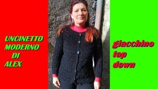 Crochet Top Down Cardigan Shell Stitch Any Size Tutorial The Most