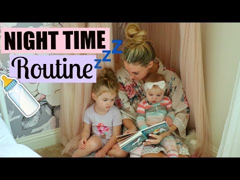 NIGHT TIME ROUTINE WITH A BABY AND TODDLER   FAMILY BEDTIME ROUTINE   Tara Henderson