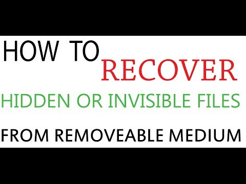 How to recover hidden from removable medium