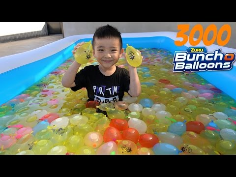 3000 Bunch O Balloons Kids Inflatable Pool Water Fight Fun Surprise Toys Box Ckn Toys