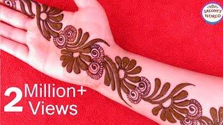 Latest 3D Mehndi Designs For Hands | Arabic Henna Designs by Jyoti Sachdeva.