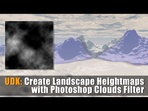 UDK: How to Create Landscape Heightmaps with Photoshop Clouds Filter
