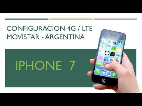 Configuración 4G LTE iPhone 7 movistar Argentina