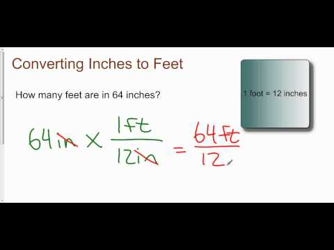 Converting Inches to Feet