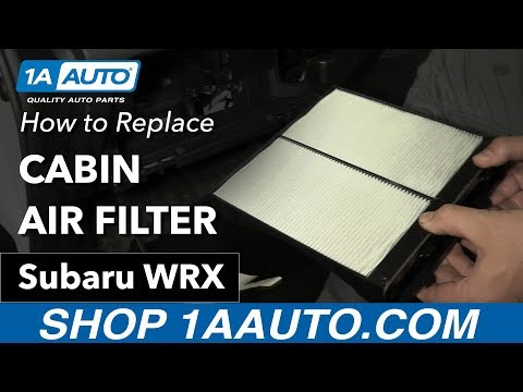 How to Replace Cabin Air Filter 11-16 Subaru WRX