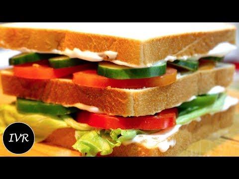 Mayo Club Sandwich Recipe | Veg Mayo Sandwich | Veg Club Sandwich | Mayonnaise Sandwich Recipe