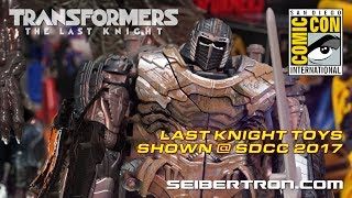 Transformers The Last Knight toy products from Hasbro at SDCC 2017