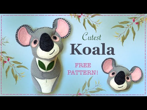 How to make a Koala in felt tutorial with Free pattern by Lisa Pay