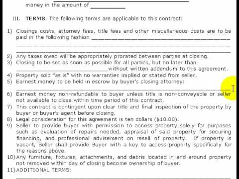 FREE Real Estate Purchase Agreement (Pt 2 of 2)