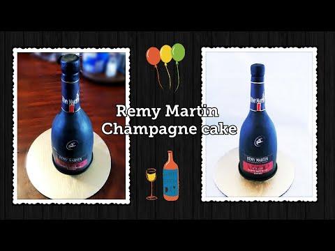 Pastel de botella /wine bottle cake/Remy Martin cake