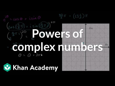 Powers of complex numbers | Imaginary and complex numbers | Precalculus | Khan Academy