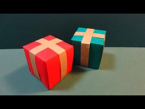 クリスマス「プレゼントボックス」折り紙Christmas