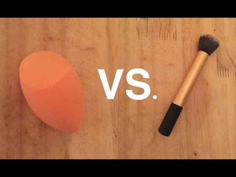 Real Techniques Beauty Sponge Vs. Brush