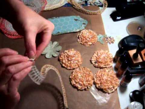 How I made these Doilies flowers