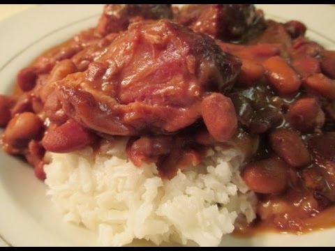 Slow Cooked Beans and Ham Hocks