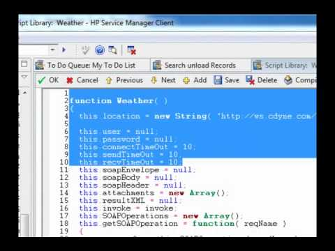 Service Manager - Creating the Consuming JavaScript - Part 2 in a series of 3