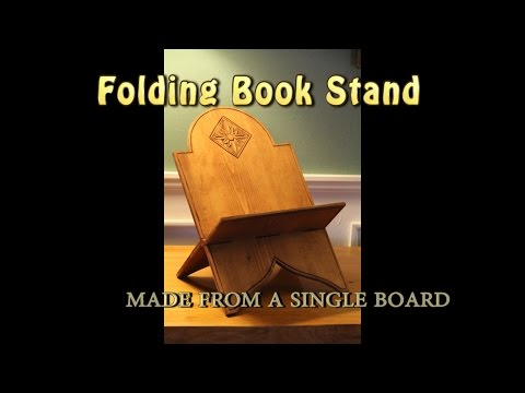 Learn how to make a Wooden Book Stand from a single board.