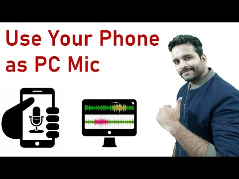 [Hindi] How to use your android phone as computer microphone 🎤  | use your phone mic in your PC