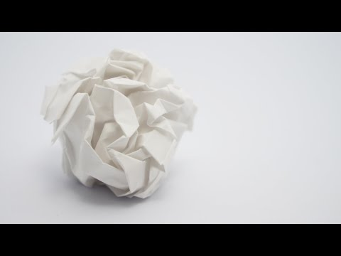 How To Make A Paper Snow Ball