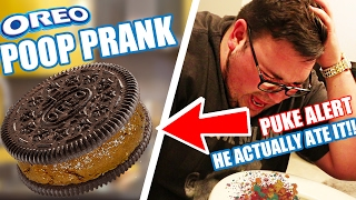 OREO POOP PRANK! (HE ACTUALLY ATE IT) MUST WATCH!!