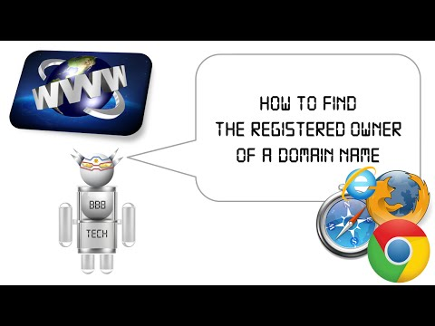 How to find the registered owner of a domain name or URL