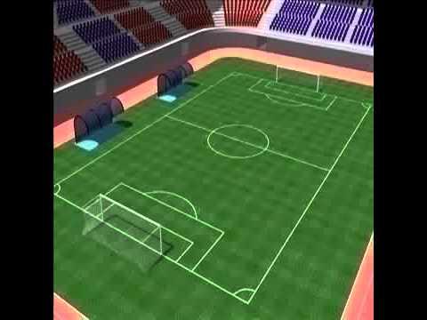 3D Model Stadium  Soccer Football