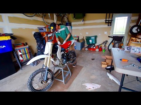 KLX110 PIT BIKE BUILD | 143cc BIG BORE KIT | PART 4