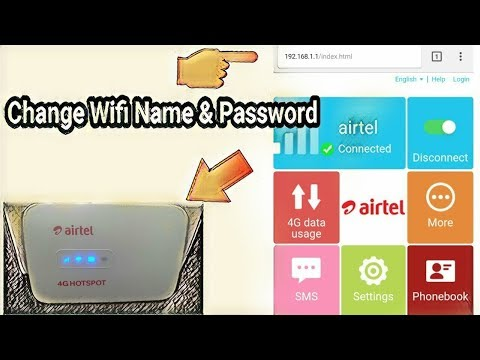 how to change airtel 4g hotspot name and password with pc/laptop