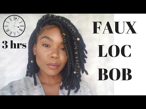Individual Crochet Faux Loc Bob for Long Hair and Short Hair