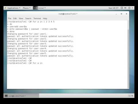 [LINUX] Create multiple users using for loop - Part 1