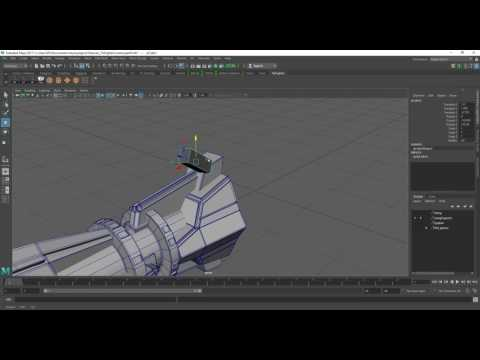 Tie Fighter Modelling in Maya Part 11 [Modifying Wing Support]
