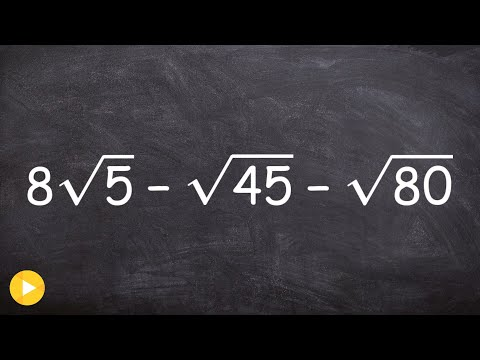 Simplify an expression by combining radicals