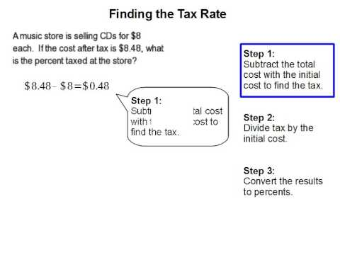 How to Find the Tax Rate
