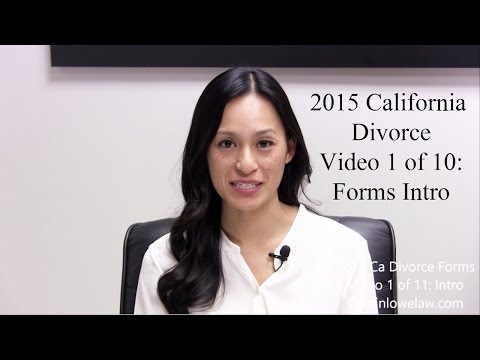 Intro to Filing California Divorce Forms