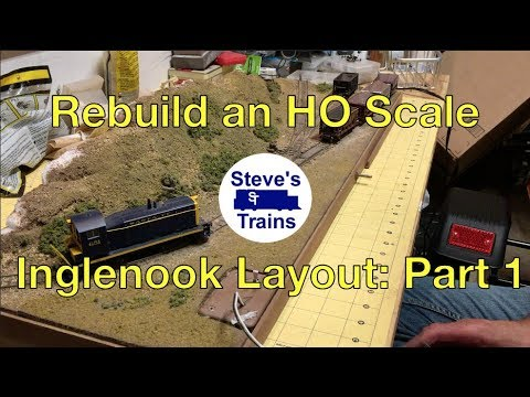 Rebuilding a small HO scale Inglenook Layout: Part1
