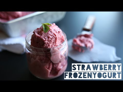 Healthy Strawberry Frozen Yogurt Recipe | How To Make Homemade Frozen Yogurt